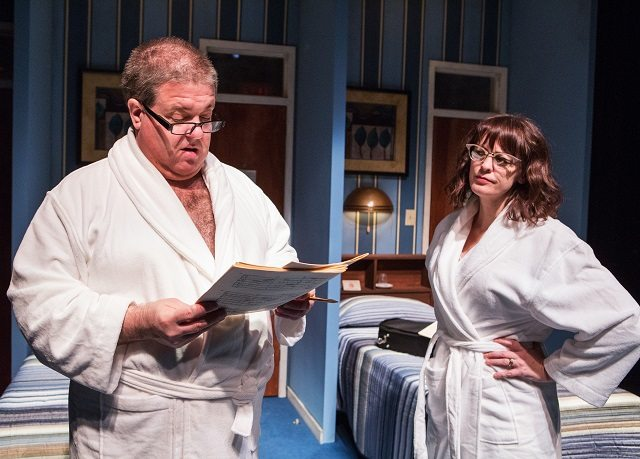 Bruce Dow and Rebecca Northan in a scene from Tarragon Theatre's Sextet  Photo by Cylla von Tiedemann