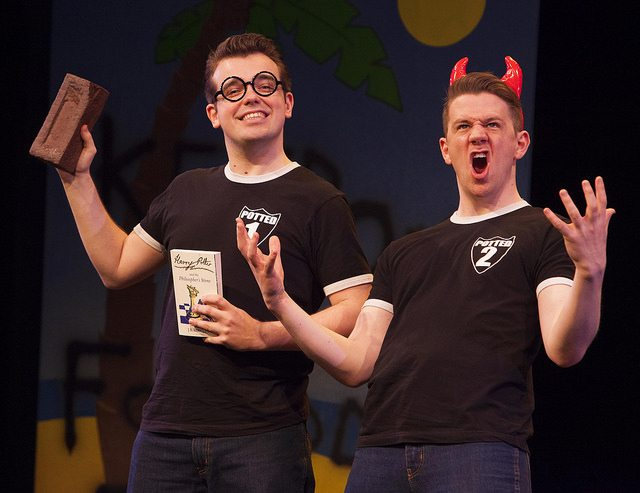 James Percy, left, and Benjamin Stratton send up the world's favourite boy wizard with Potted Potter at the Panasonic Theatre  Photo courtesy of Starvox Entertainment