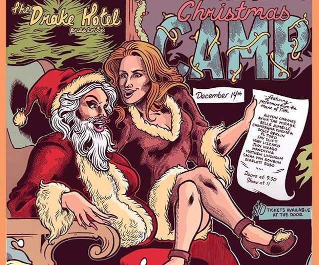 A sampling of the poster for Judy & Igby's Christmas Camp by Eric Kostiuk Williams  (You're going to want to see the whole thing )