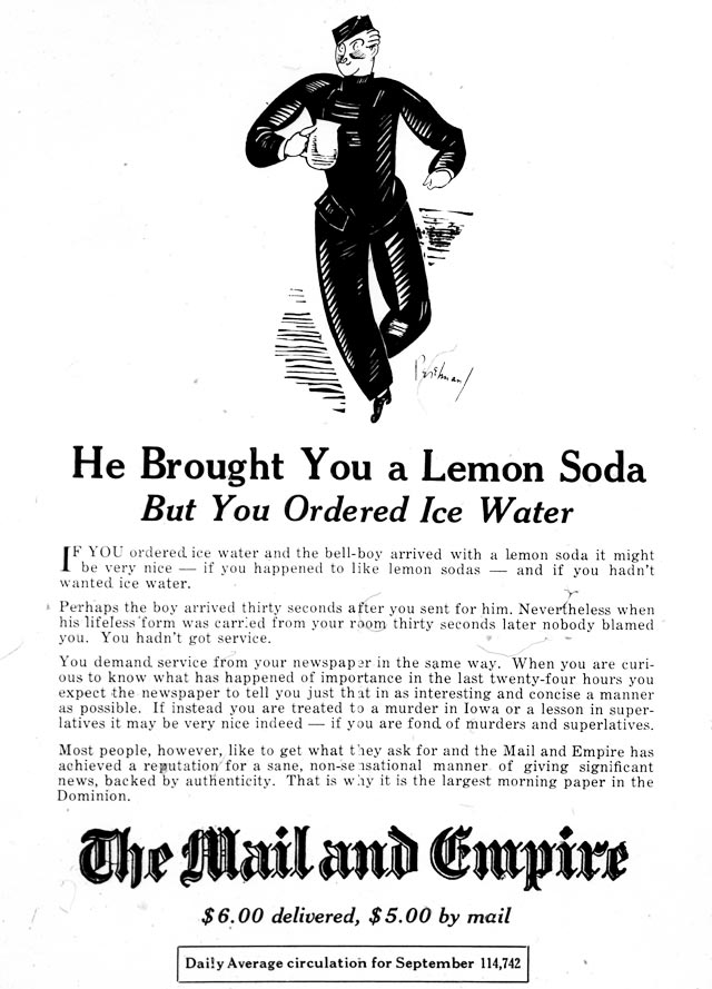 Advertisement, Goblin, November 1925