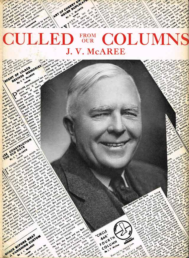 Cover of Culled from Our Columns by J V  McAree (Toronto: Longmans, 1962)