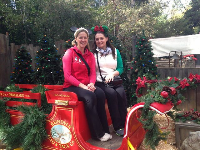 Comedy duo CORY (Leslie Seilers & Lauren Ash) go to Disneyland for Christmas, every year  Photo by Goofy