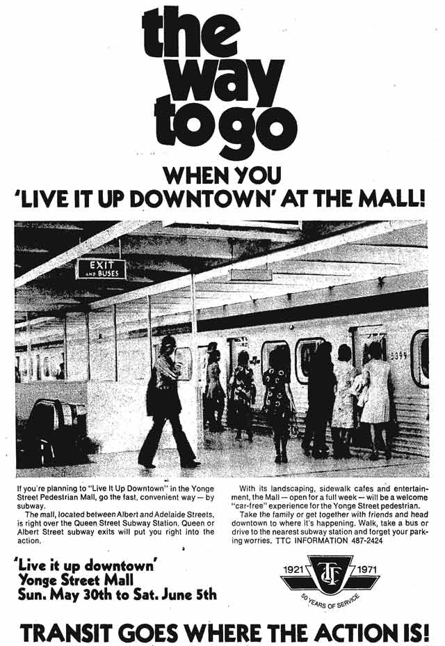Advertisement, Globe and Mail, May 29, 1971