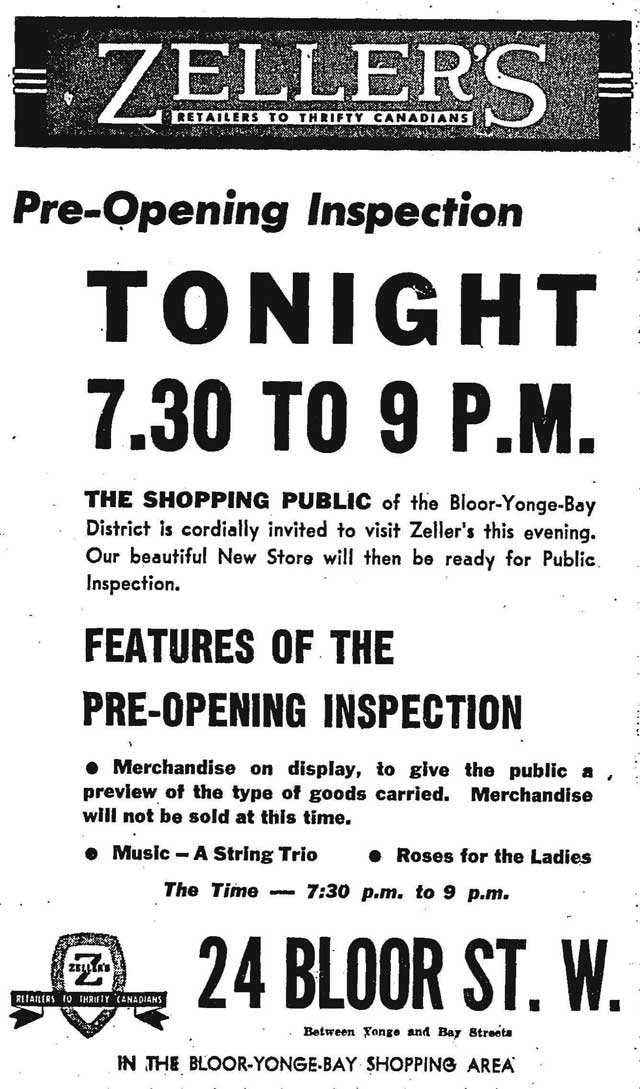 Source: Globe and Mail, March 8, 1950