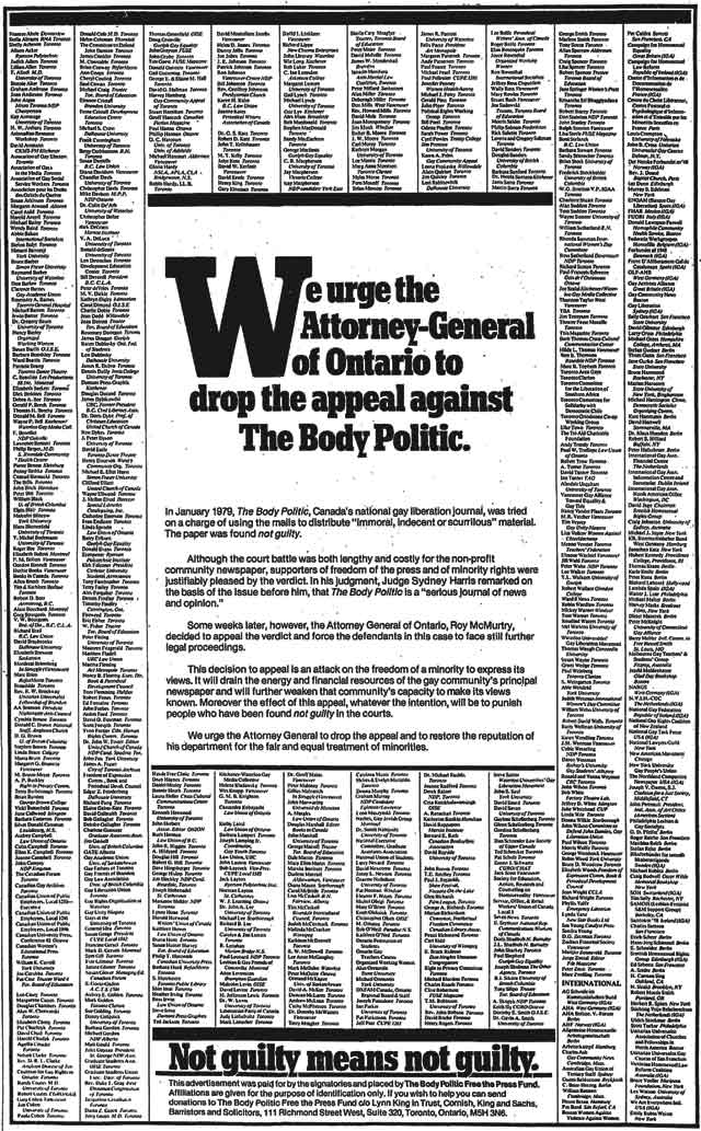 Source: the Globe and Mail, February 6, 1980