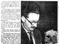Discovery of the bones at Tabor Hill.  Toronto Telegram, August 18, 1956.