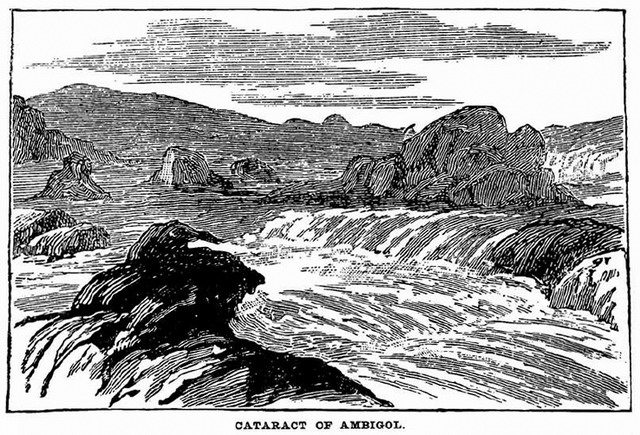 Cataract of Ambigol  Illustration from Louis Jackson, Our Caughnawagas in Egypt [PDF] (1885)