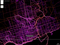 Mapping Where Torontonians Bike and Run