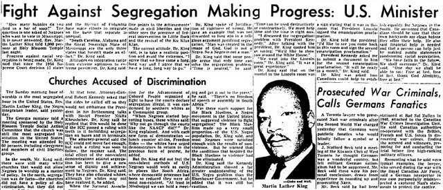 Globe and Mail (March 16, 1962)