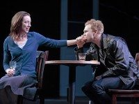 Molly Parker and Philip Riccio in a scene from Harper Regan at Canadian Stage. Photo by David Hou.