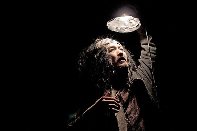 Kim's Convenience author Ins Choi portrays a homeless modern day prophet in his poetic solo show Subway Stations of the Cross  Photo by Nathan Kelly