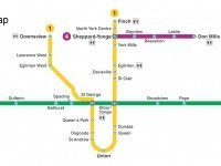TTC subway map for those unable to use stairs and escalators. Map by Sean Marshall.