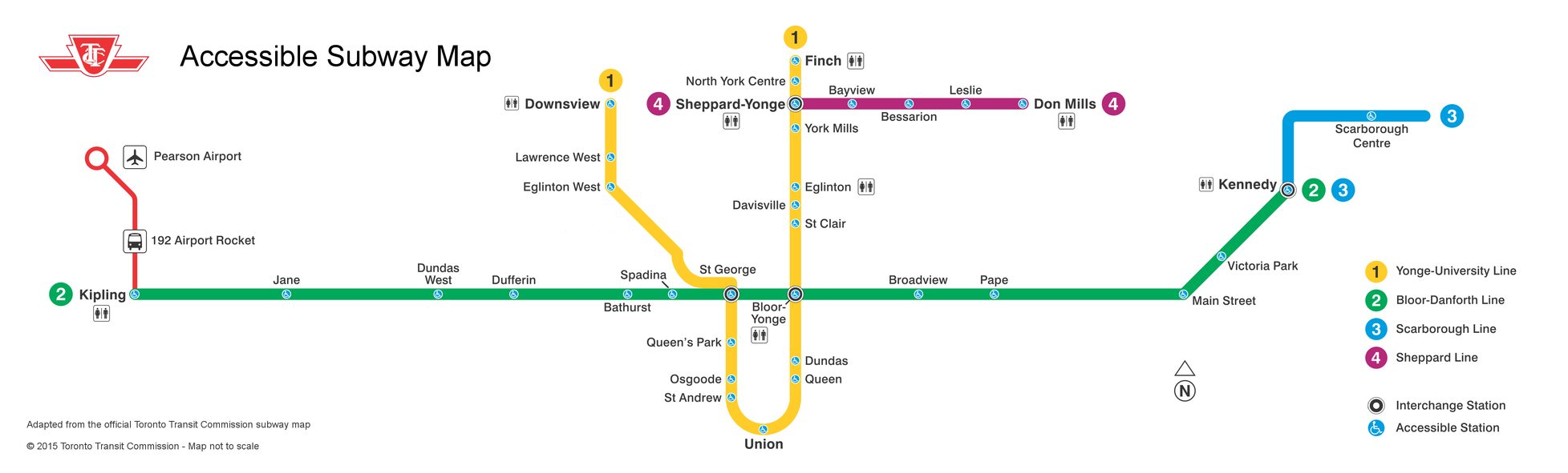 Toronto Subway Stations Map.Mapping An Accessible Ttc