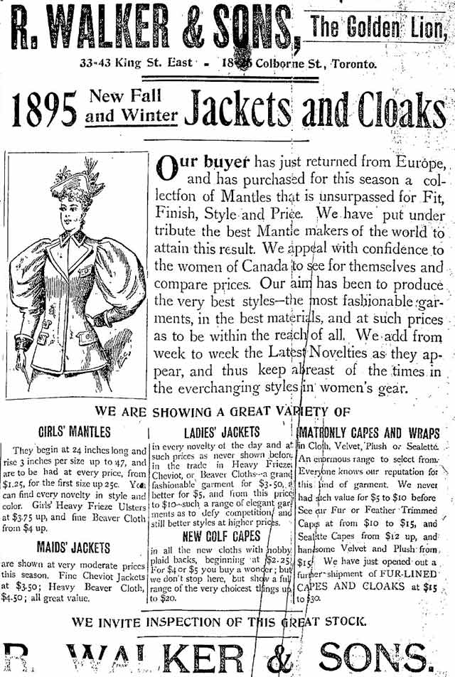 Source: Toronto Star, September 25, 1895