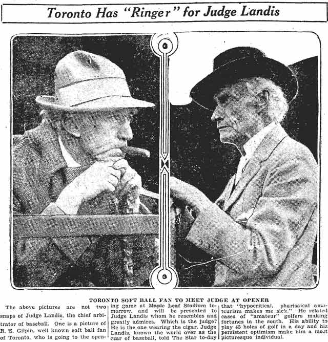 Source: Toronto Star, April 28, 1926