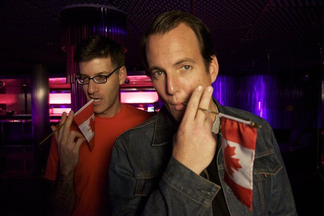 Robert Cohen and Will Arnett in Being Canadian