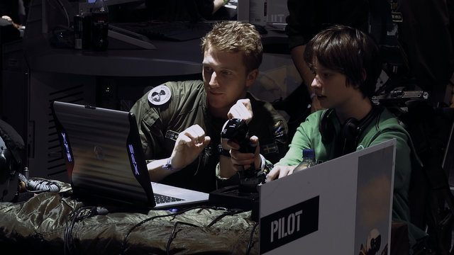 A military drone operator training session in Drone