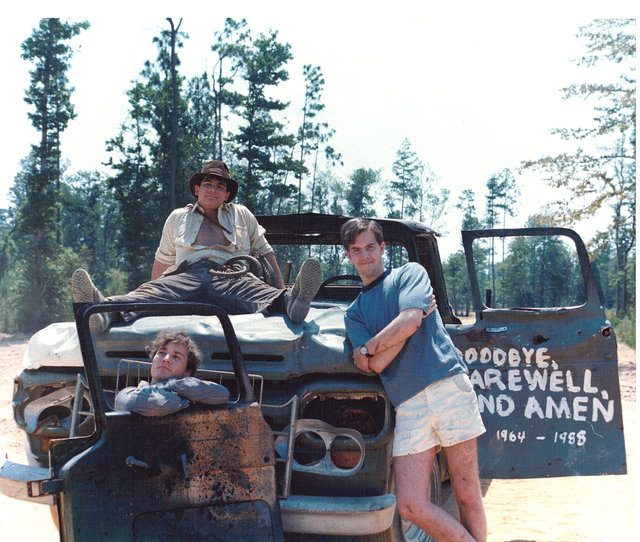 Chris Strompolos, Jayson Lamb, and Eric Zala (left to right) in RAIDERS! from 1987  Photo by Chris Strompolos