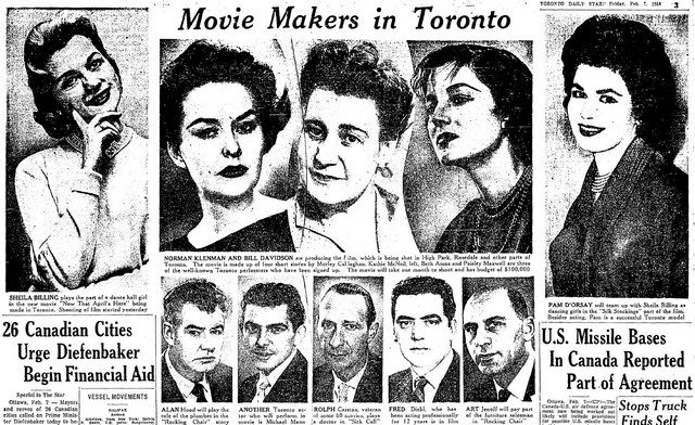 Publicity for the actors and actresses of Now That April's Here Star (February 7, 1958)
