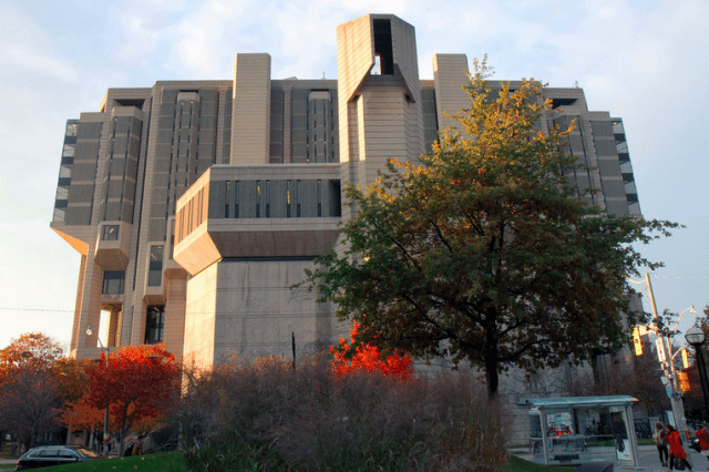 Robarts in the fall  Photo by Jeremy Gilbert from the Torontoist Flickr Pool