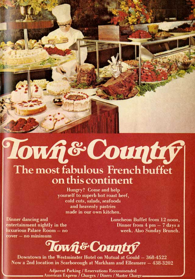 Vintage Toronto Ads: Town & Country