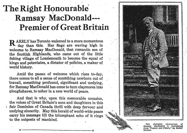 Excerpt from an advertisement for Simpsons deparment store, the Globe, October 16, 1929