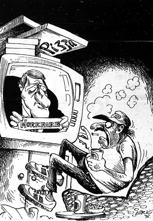 Cartoon, Toronto Sun,  June 5, 1995