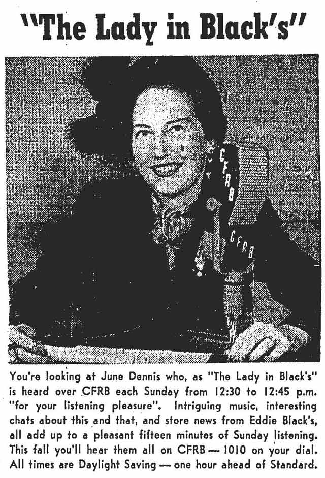 Source: Globe and Mail, October 22, 1949