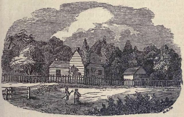 Sketch of John Jones' House at the Credit Village, where Egerton Ryerson lived as missionary  From Egerton Ryerson's The Story of My Life (W  Briggs, 1883)