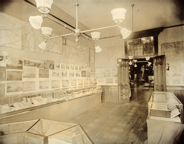 Public Library Room at the Canadian Historical Exhibition, Victoria College, 1899  From the Toronto Public Library's Digital Collection