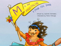 "Catherine Hernandez's book, ""M is for Mustache,"" is inspired by her daughter, Arden. Photo courtesy Flamingo Rampant"