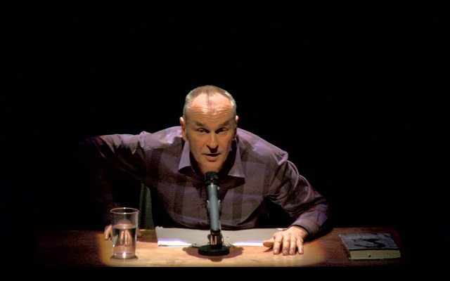 Daniel MacIvor adopts the style of the eponymous American monologist in his new one man show, Who Killed Spalding Gray? Photo courtesy of Luminato Festival