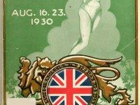 Cover of the official program for the 1930 British Empire Games. Toronto Public Library.