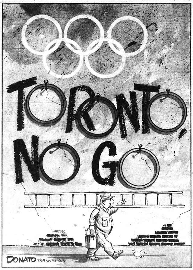 Cartoon by Andy Donato, Toronto Sun, September 19, 1990