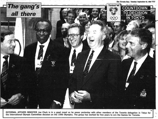 Source: Toronto Sun, September 18, 1990  Also in picture are Lincoln Alexander and Art Eggleton