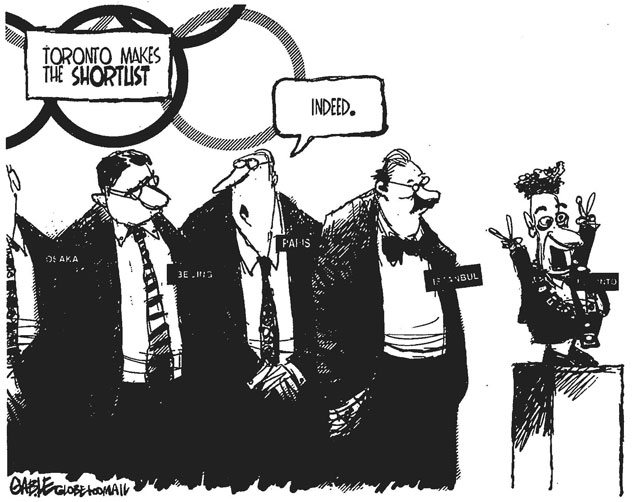 Cartoon by Brian Gable, Globe and Mail, August 31, 2000