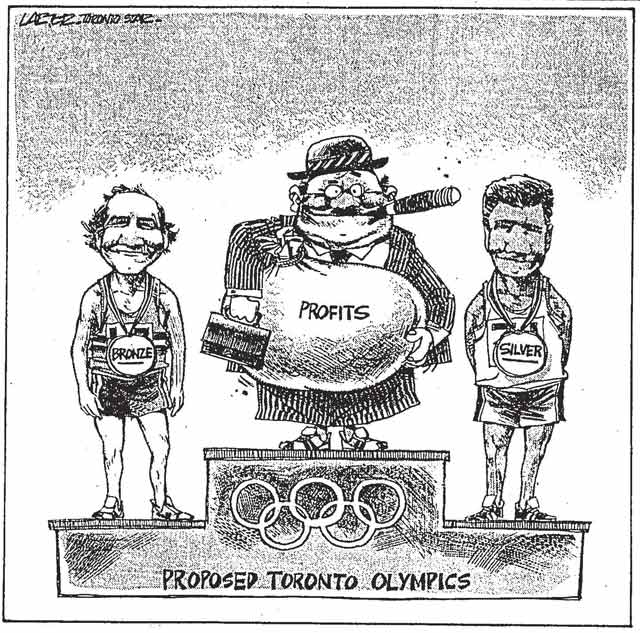 Cartoon, Toronto Star, August 21, 1986
