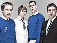 "In lieu of Pan Am Games television coverage, here instead are the four British young men from ""The Inbetweeners"" in school uniforms. You may pretend that the school uniforms are Pan Am Games uniforms if you like."