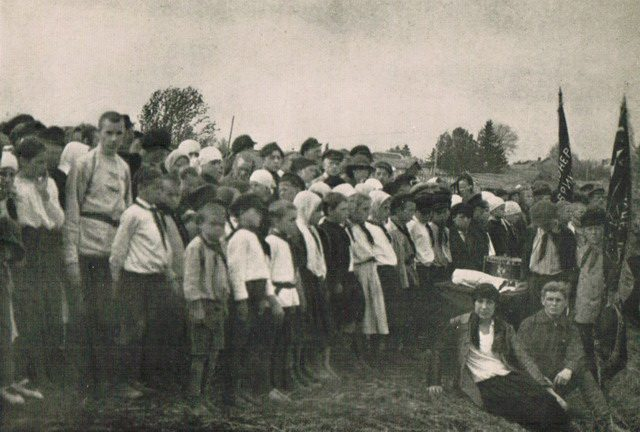 Young Pioneers in the Village of Pavlovskore, from William Henry Chamberlin, Soviet Russia—A Living Record and a History (Little, Brown and Company, 1930)