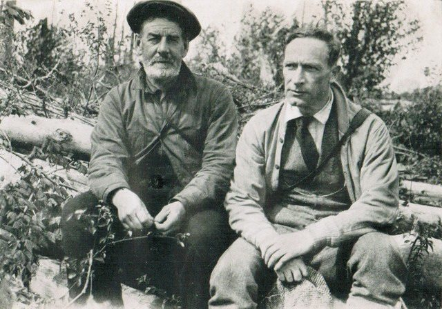 Fred Griffin (right) with a prospector in Northern Ontario, from Frederick Griffin, Variety Show (Macmillan, 1936)
