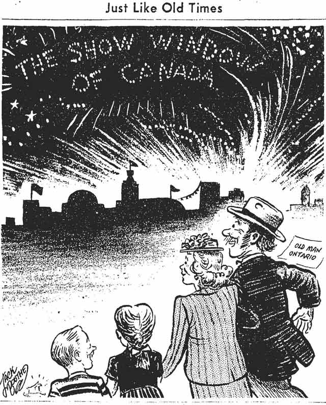 Cartoon by Jack Boothe, the Globe and Mail, August 22, 1947