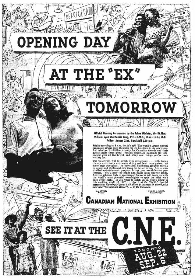 Advertisement, the Globe and Mail, August 21, 1947