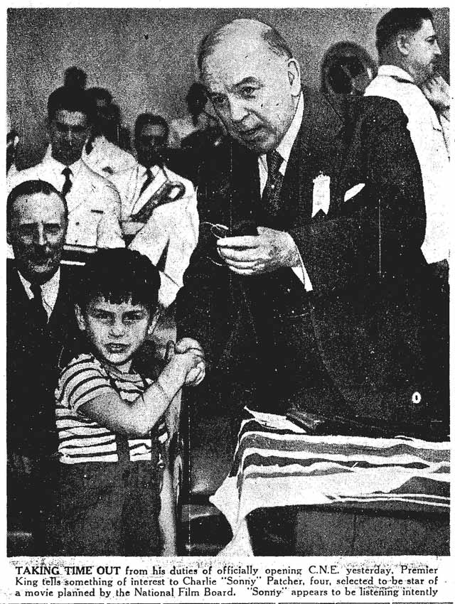 Front page photo, Toronto Star, August 23, 1947