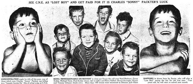 Source: Toronto Star, August 21, 1947  Note misspelling of Charles Pachter's last name