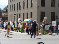 Spotted: Protest Outside of the Consulate General of Jamaica
