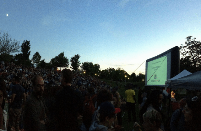 Photo from Christie Pits Film Festival's Facebook page