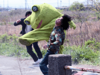 Don't mess with the guy in the frog suit. (Yakuza Apocalypse, courtesy TIFF)