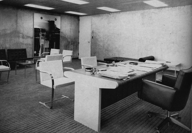 Mayor Phil Givens's office  Canadian Architect, October 1965