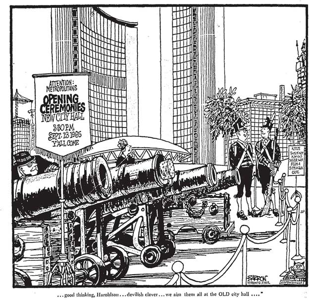 Cartoon by Sid Barron, Toronto Star, September 13, 1965