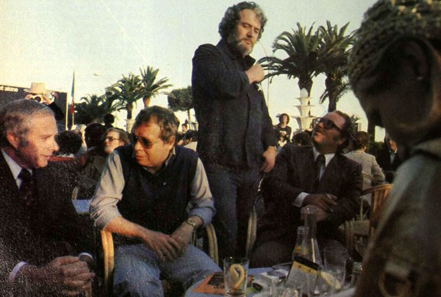 Left to right: Jerry Rappaport, David Crombie, Bill Marshall, Henk Van der Kolk, and Yenka Van der Kolk at the Cannes Film Festival Maclean's, June 26, 1977